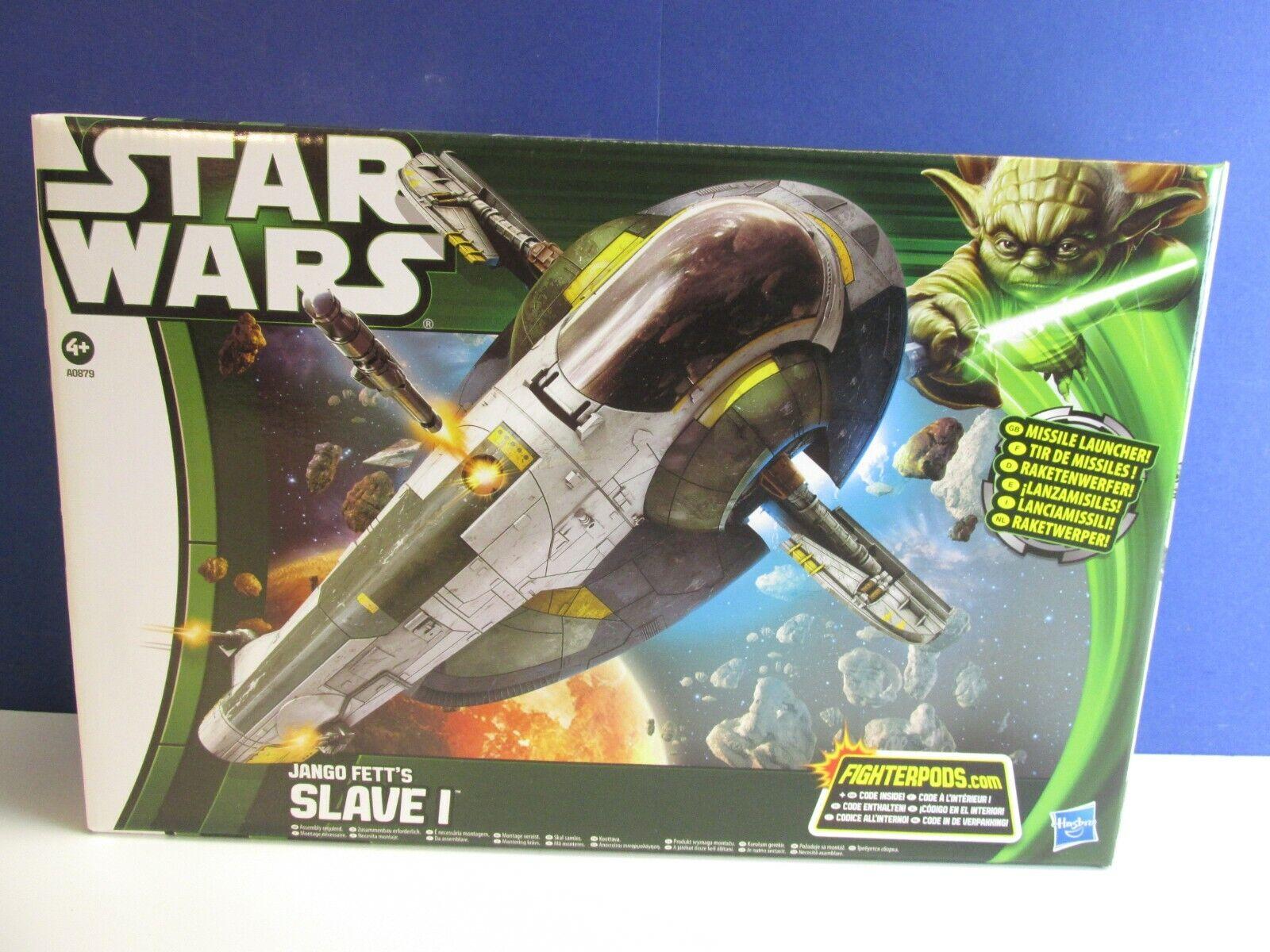 nuovo estrella guerras Jango Fett'S Slave 1 NAVE TCW Clone guerras HASBRO 2012  03