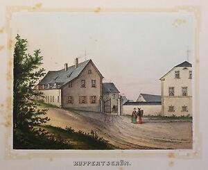 Litografia-ruppertsgrun-vista-poenicke-cerraduras-caballero-bienes-Sajonia-para-1855