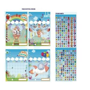 MOSHI-MONSTERS-039-FUN-PARK-039-STAR-CHART-STATIONERY-FREE-P-P