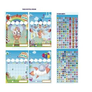 Moshi-Monsters-Kids-039-Fun-Park-039-Star-Chart-Brand-New-Gift