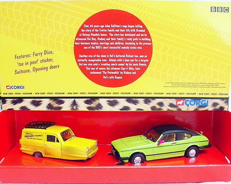 Corgi Toys 1 36 ONLY FOOLS AND HORSES RELIANT + FORD CAPRI TV Model Car Set MIB