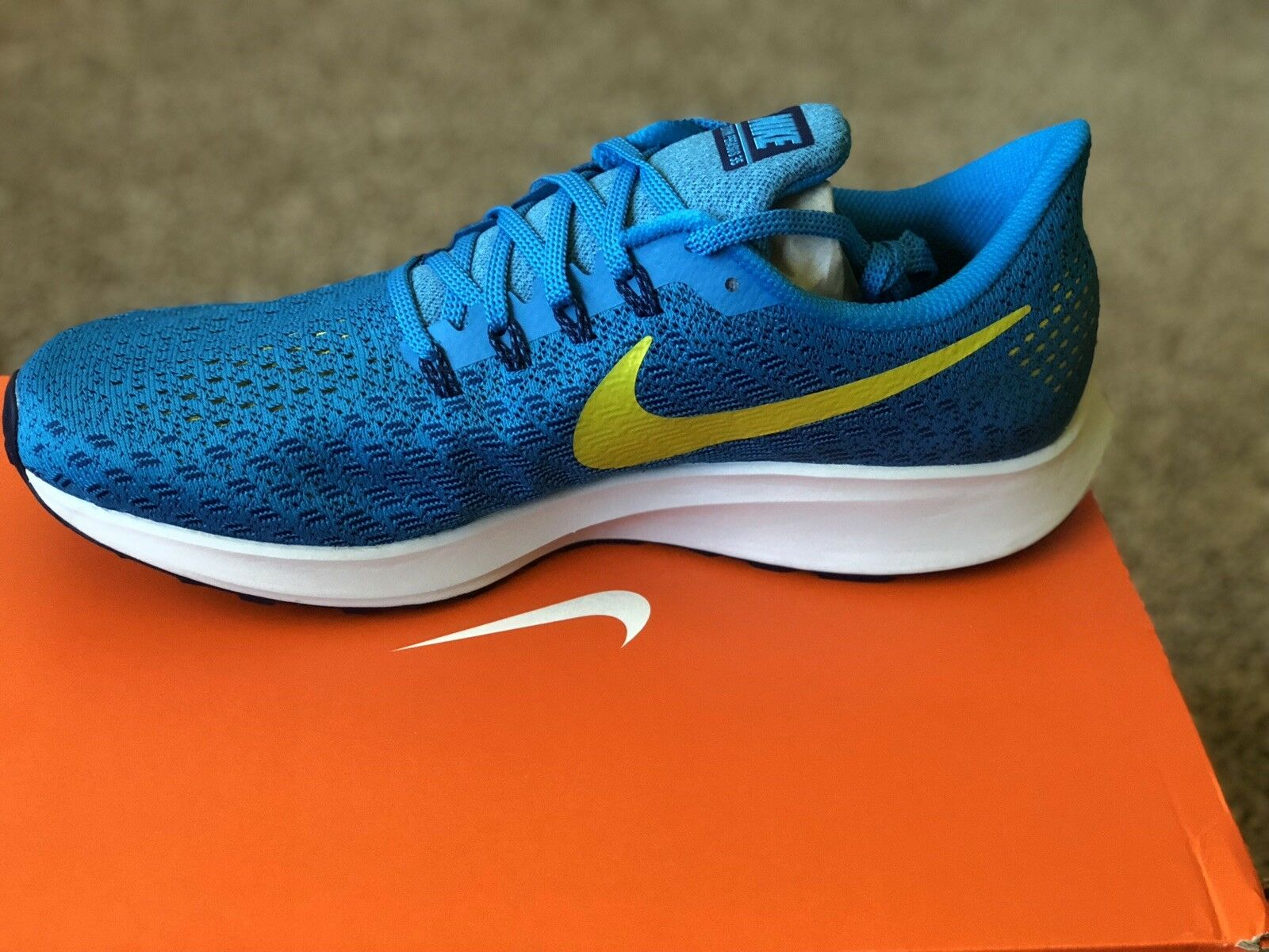 Nike Air Zoom Pegasus 35 [942851-400] Men Running shoes blueee Orbit Citron