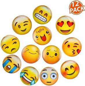 Emoji-Magnete, Stark Haftende Flach-Magnete 30 St;Ø 2,5 Cm Smiley-Magnete,