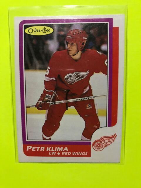 Petr Klima O-Pee-Chee 1986-87 NHL Rookie Hockey Card #98