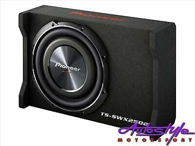 Pioneer TS-SWX2502 10 inch Shallow-Mount Pre-Loaded Enclosure  Tight bass from a shallow compact des