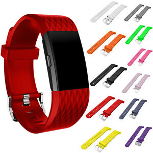 Sports-Soft-Silicone-Smart-Watch-Strap-Wrist-Band-Replac-For-Fitbit-Charge-2-New