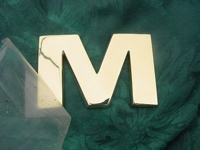"FORMULA BOAT LOGO EMBLEM CHROME LETTER 2-1//4/"" HIGH /"" M /"" NEW !!"