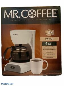 Mr. Coffee DR4: 4 Cup Switch Coffee Maker - White New In Box
