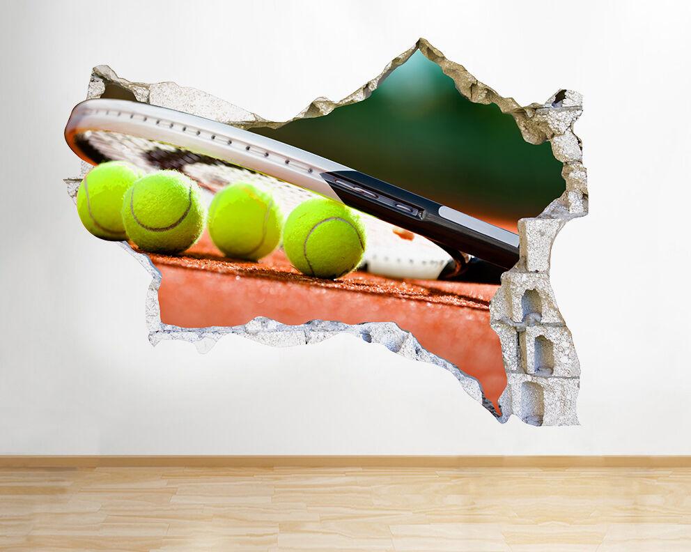 Q648 Tennis Sport Hobby stanza del vinile adesivo da parete camera bambini