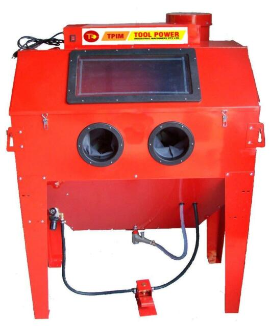 Sand blasting cabinet 420L with Dust Exactor FOR rust removal & Restoration++++