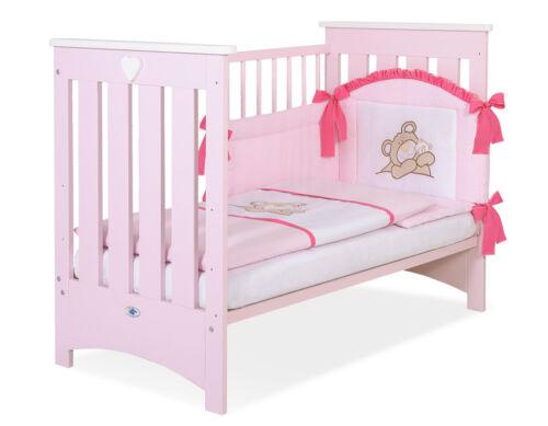 mit Schaumstoff Matratze Kinderbett 120 x 60cm Lorenzo Farbe pastell pink