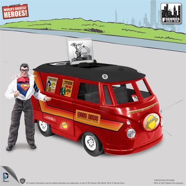 Dc comics bus playset fr 8 - zoll - retro - superman mit exklusiven clark kent