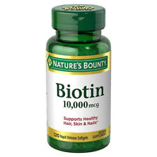 Nature's Bounty Biotin 10,000 mcg, Rapid Release Softgels 120 ea
