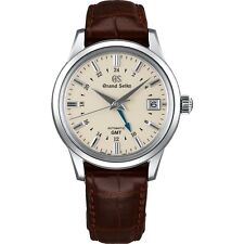 New Grand Seiko Automatic GMT Leather Strap Men's Watch SBGM221