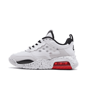big kids' jordan air max 200 casual shoes white/black