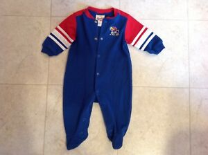 35fa674b40dd Kansas Jayhawks Baby 6 9 Month M Footie Pajamas Infant Button One ...