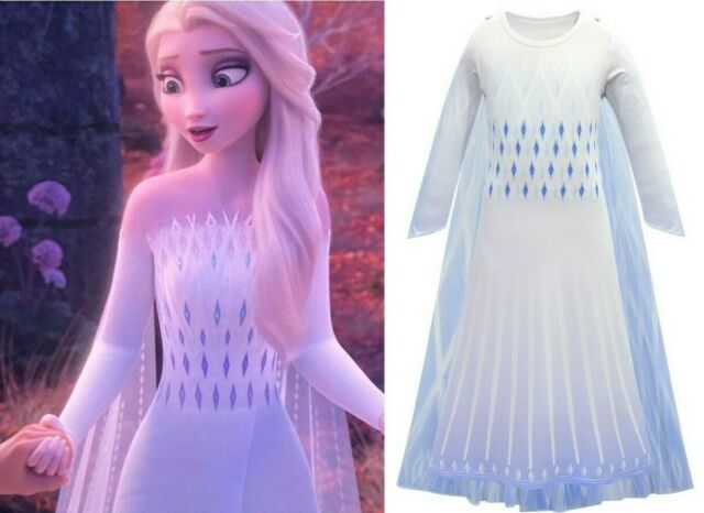 Girls Kids Disney Frozen Elsa Costume Party Birthday Fancy Dress