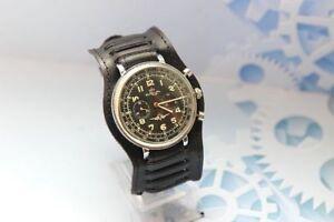 Strela Kirova CHRONOGRAPH 3017 1 MChZ USSR Vintage men's mechanical Wristwatch