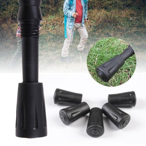 12xReplace Spare Walking Sticks Trekking Hiking Pole Durable Rubber Ferrule Ends