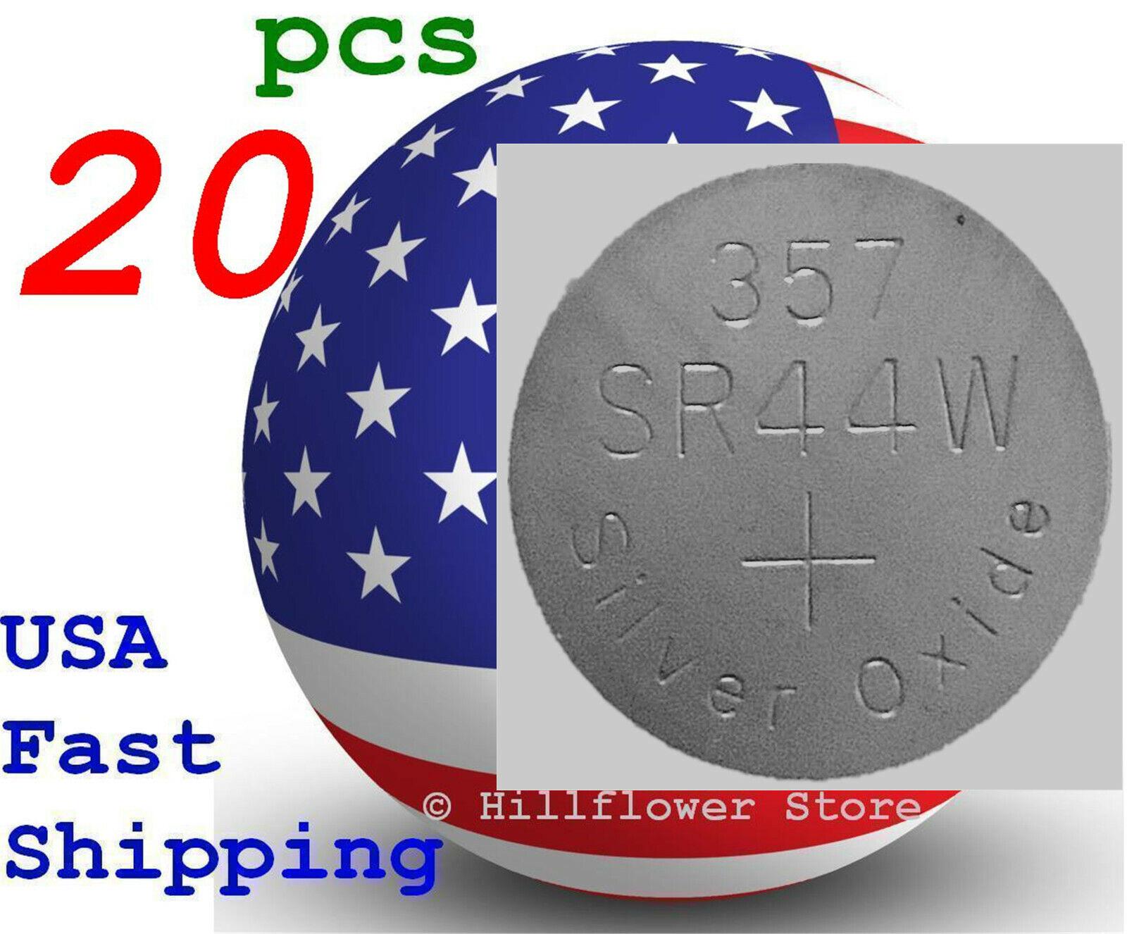 20 pcs SR44 SR44SW 303 357 G13 357A SR44W Bulk Silver Oxide Battery