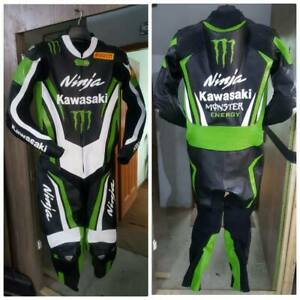 Kawasaki-Ninja-Motorbike-Leather-Suit