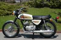 1971 Kawasaki 350 Avenger Vintage Motorcycle Poster 16x24