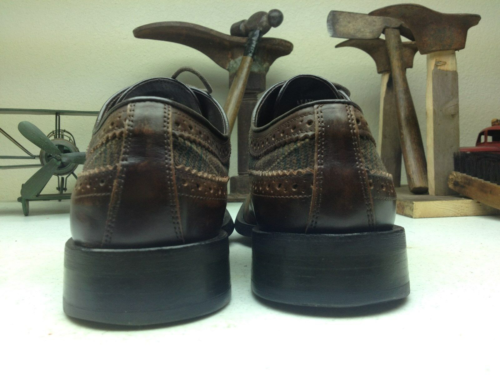 KENNETH COLE COLE COLE BROWN LEATHER LACE UP OXFORDS SIZE10 M e1546e