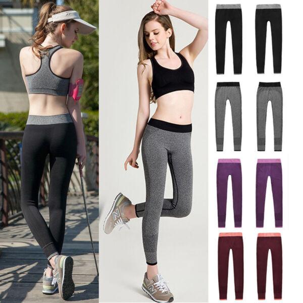 Mode Damen Sport Leggings Yoga Fitness Laufhose Tights Stretch Jogginghose Hose
