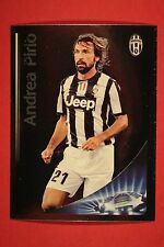 PANINI CHAMPIONS LEAGUE 2012/13 N 353 BEST PLAYER PIRLO JUVENTUS BLACK BACK MINT