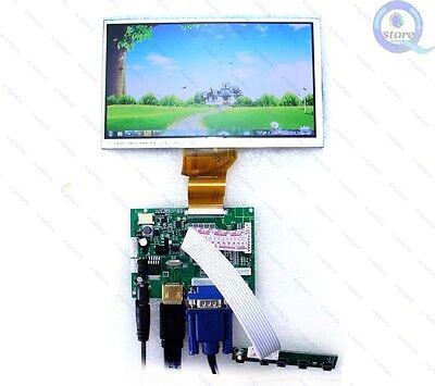 "(HDMI+VGA+2AV)Controller Monitor Kit + 7"" 800x480 LCD AT070TN94 for Raspberry Pi"