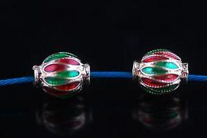 10PcsEnamel-Rondelle-Bead-Ball-Beads-Spacer-Jewelery-Craft-Bracelet-Material-New