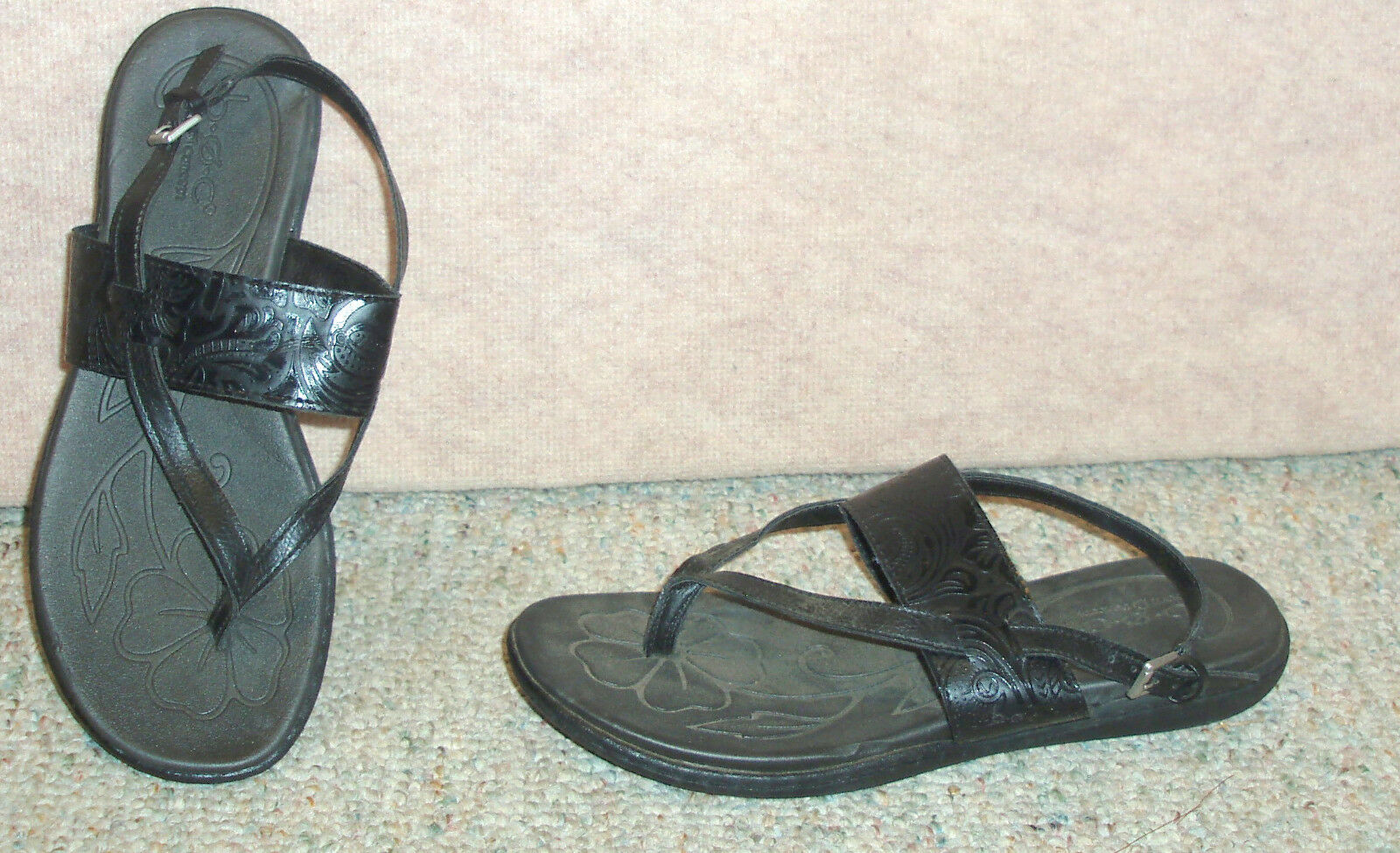 Women's black b.o.c. by BORN sandals 8 / shoes , sz 8 sandals M d5e0e6