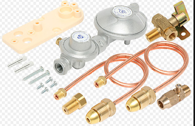 DUAL LPG CYLINDER 2 STAGE  REGULATOR   MANUAL TAP 160 MJ/HR  3.2KG/HR   6060535