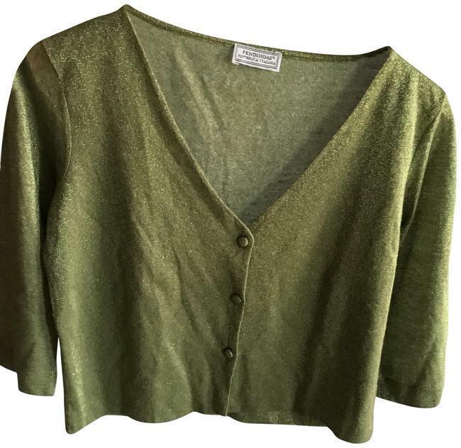 Fendissime Fendi Young Line Grün Sweater