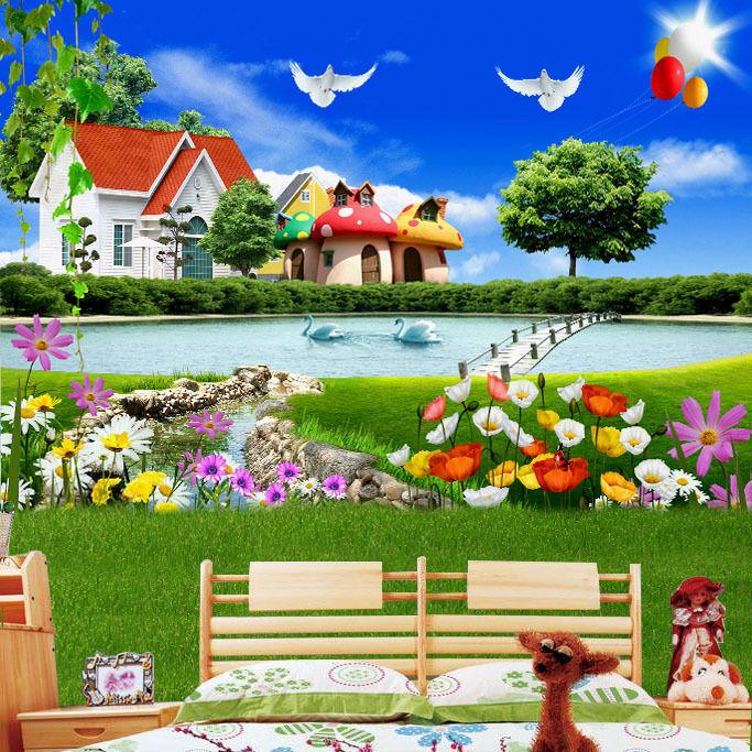 3D bel prato 366 Parete Murale Foto Carta da parati immagine sfondo muro stampa