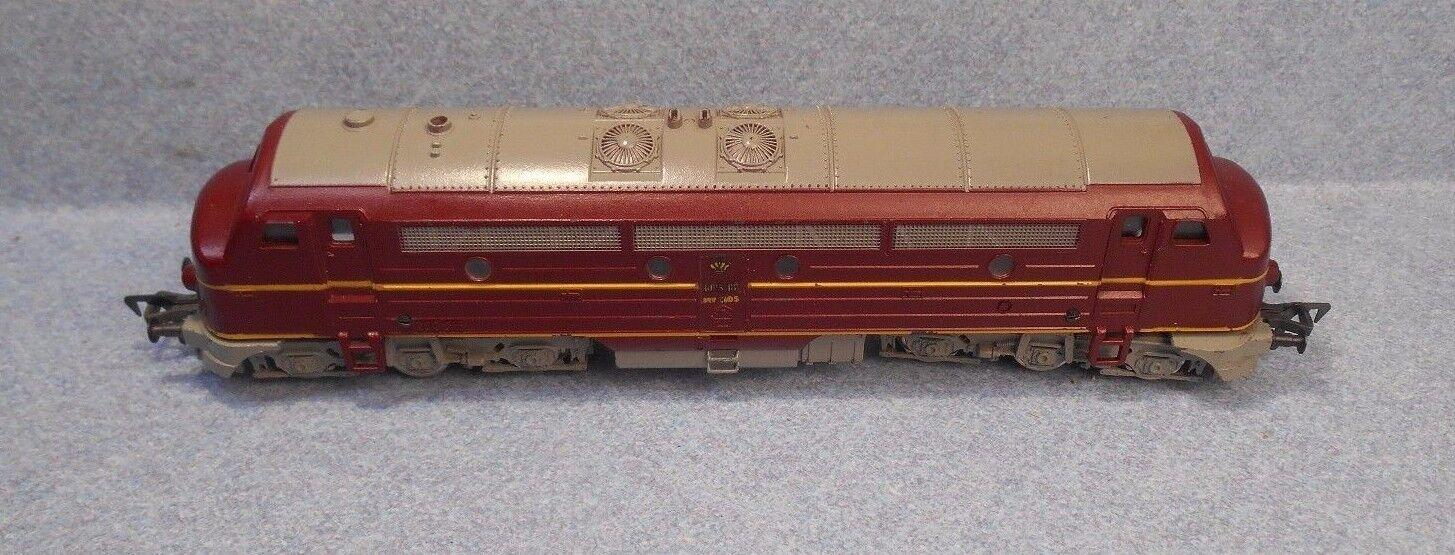 Vintage Fleischmann HO 1385D 4271 Danish DSB Diesel In Partial Box