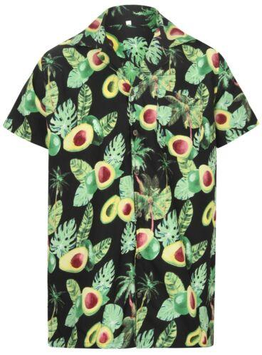 Avocado Camicia Hawaiana Addio al Celibato Guacamole Guacamole Vegan Forte Da Uomo Aloha Frutta Birra UK