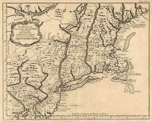 Map Of New York Revolutionary War.Details About 1760 New York Pennsylvania New Jersey Old Antique Map Reproduction Print