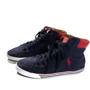 5d84a9ebda7757 Polo Ralph Lauren Harvey MID Canvas High Top Sneaker w Logo size ...