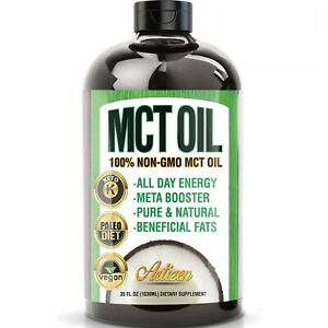 100% PURE MCT Oil HUGE 35oz (Raise Ketones High Faster C8 & C10 MCTs) – Artizen