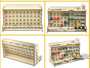 Botella-redonda-ollas-de-madera-Pigmento-Pintura-De-Almacenamiento-Organizador-Rack-Modelo-Titular