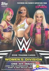 2018-Topps-WWE-Women-s-Division-EXCLUSIVE-HUGE-Factory-Sealed-Blaster-Box-HIT