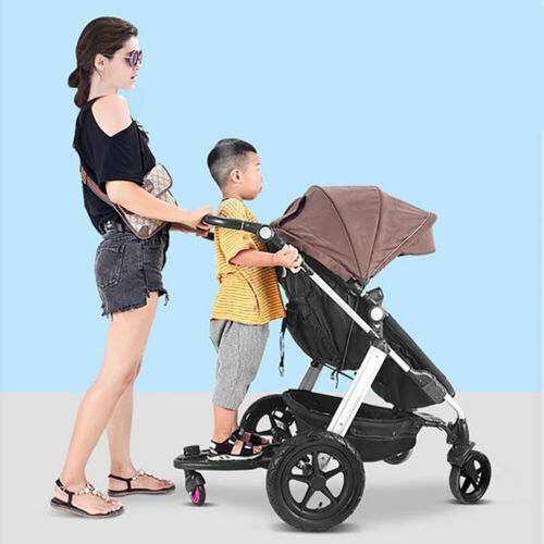 Kids Buggy Stroller Step Board Stand Connector Toddler Child Wheeled Pushchair