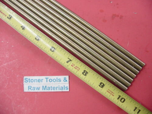 """7 Pieces of 1//4/"""" C360 BRASS SOLID ROUND ROD 10/"""" long .250/"""" Lathe Bar Stock"""