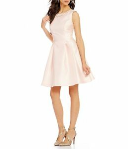 5cf2b5ac1ef05 Image is loading Jessica-Simpson-Sleeveless-Embellished-Bow-Fit-Flare-Dress-