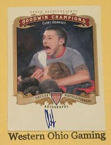 2012-Upper-Deck-Goodwin-Champions-Clint-Dempsey-A-CD-Autographed-Card-Soccer