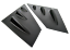 ABS GLASS BLACK FOR SUBARU WRX STI 4DR SEDAN WINDOW LOUVER VENT 18