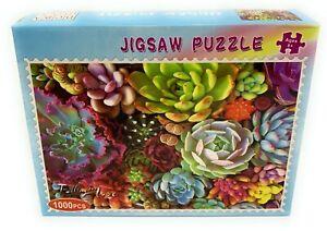 1000-Pieces-Succulent-Spectrum-Plants-Jigsaw-Puzzles-Educational-Assembling-Toys