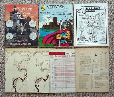 Anos 80 Judges Guild Dungeons & Dragons Invencível Overlord ...