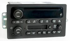 2003-2005 GM Chevy Truck Van Radio AM FM Cassette CD Player w Aux Input 15104156